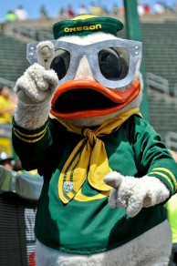 If there was a mascot draft, the Duck would go #1.