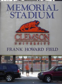 """Entrance where Clemson football players prepare before """"Running Down the Hill""""."""