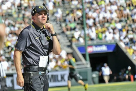 Mark Helfrich could not have asked for a better performance from his offensive during his head coaching debut.