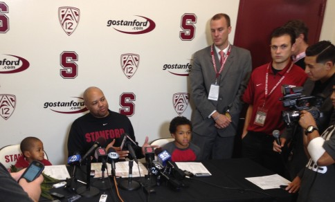 Coach David Shaw and sons
