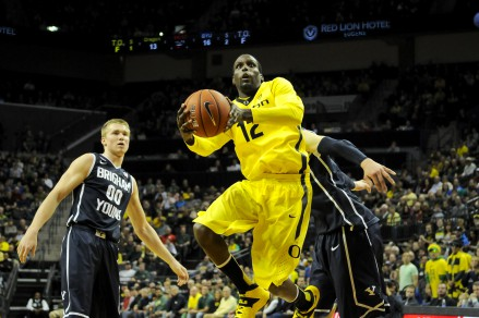 G Jason Calliste came off the bench to lead Oregon over BYU in overtime.