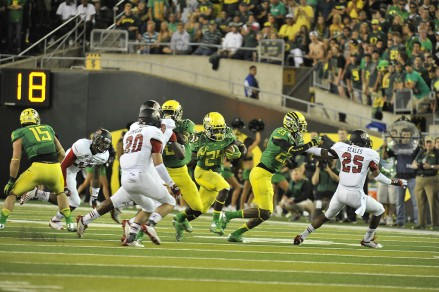 The Ducks lost both of their all-time rushers in Kenjon Barner and LaMichael James in back to back seasons.