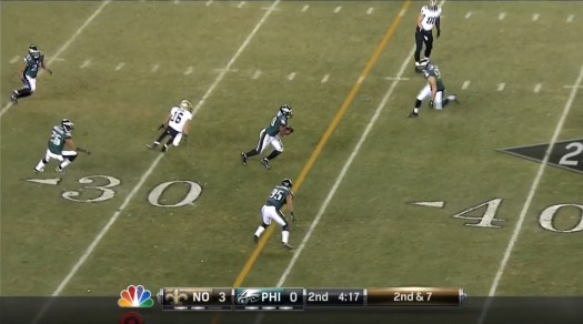 Demeco Ryans intercepts and runs back well too