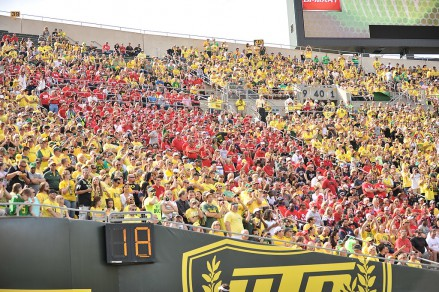 Oregon fans, always supportive.