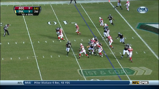 Bad execution by Smith abruptly ended the play.