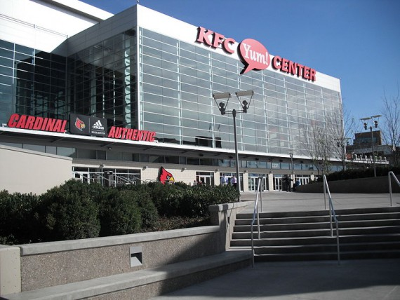 The KFC Yum! Center, home to Louisville basketball