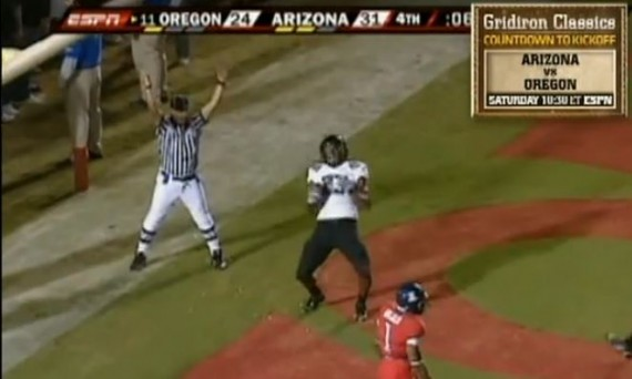 Ed Dickson ties the game at 31-31 in 2009.