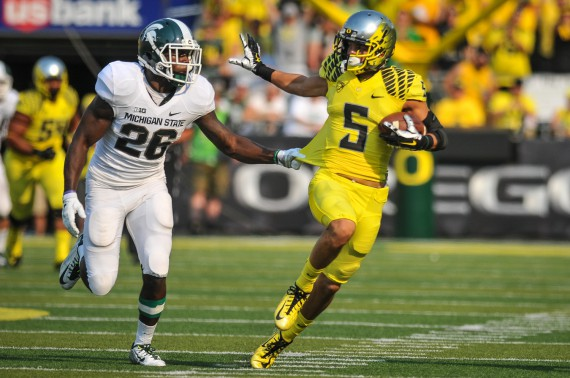 Devon Allen on his 70 yard TD reception against Michigan State.