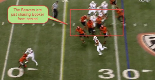 The defenses will just be chasing Booker if they don't contain