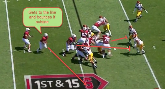 The blocking is great and the vision of the ball carrier is even better