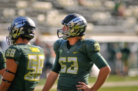 Connor Johnson was named special teams player of the year in high school.