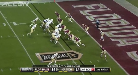 Georgia Tech ran for over 330 yards on the Seminoles.