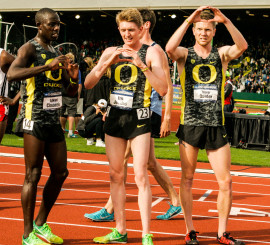 Cheserek, Jenkins, and Dunbar giving the home crowd what they want after a successful race