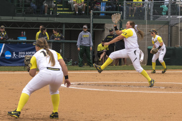 Hawkins threw 11 strikeouts and allowed three runs in Oregon's 4-3 victory over NDSU.
