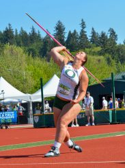Points from Liz Brenner in the javelin would be a bonus for the Ducks.