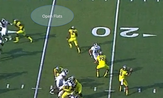Tyner Running an Arrow Routes to the Flats