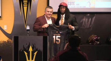 Durant with ASU Head Coach Todd Graham on National Signing Day