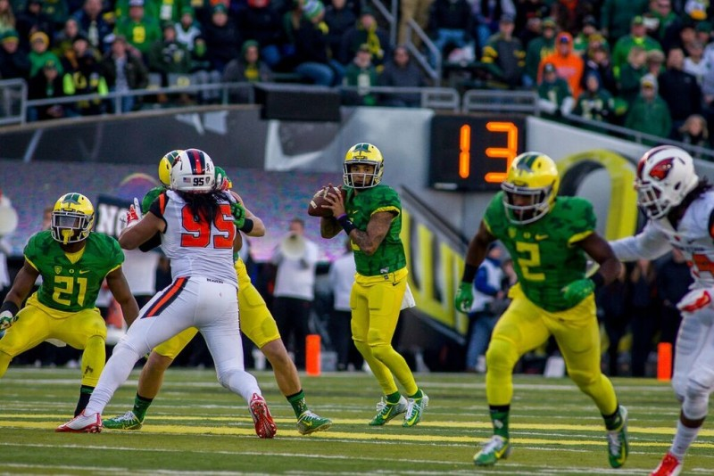 Vernon Adams threw for 366 yards in his first and only Civil War.