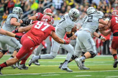 Jeff Lockie and Taylor Allie were not enough to prevent the Ducks from being upset at home by WSU