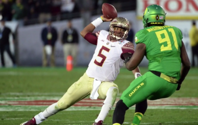 Jameis Winston gifts yet another turnover to the Ducks, one Tony Washington promptly turned into six points.