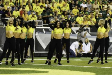 Oregon's cheerleaders got more action in the 4th Quarter than Oregon's offense.