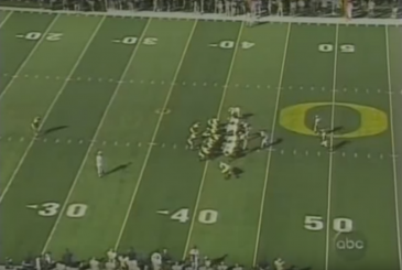 Victory formation in 2003 verses Michigan