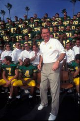 Coach Brooks and the Oregon Ducks at the Rose Bowl